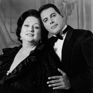 Rock singer Freddie Mercury and Spanish soprano Montserrat Caballé in late 1980s. Their recording of Barcelona was adopted as the theme to the city's Olympics in 1992