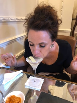 The Egerton Slurp at the Egerton House Hotel in Knightsbridge, central London. Their signature cocktail is served way too full, so you have to slurp. It's all very bohemian.