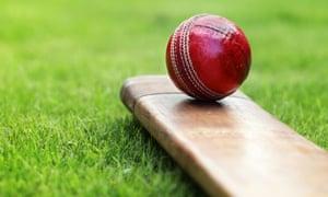 Cricket ball and bat