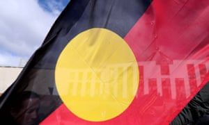 The Aboriginal flag with Parliament House in the background