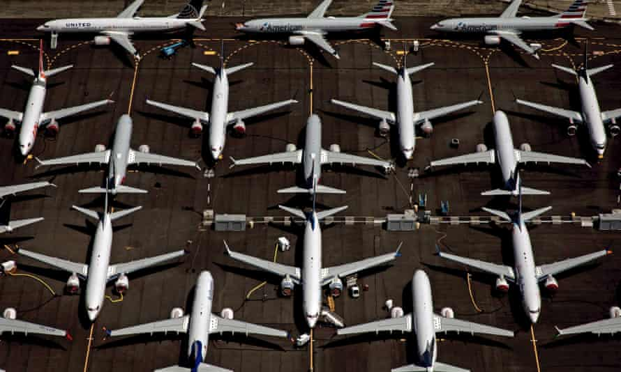 An aerial view of commercial aircraft. Researchers predict the private jet market will increase by 50% by 2030.