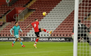 Danny Ings scores the opening goal.