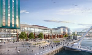 Clog on the Tyne … a rendering of Gateshead Quays from the waterfront.