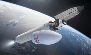 Artist's impression of the BepiColombo spacecraft shortly after launch.