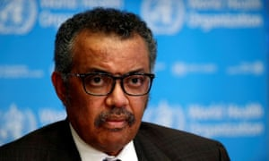 Director General of the World Health Organization Tedros Adhanom Ghebreyesus.