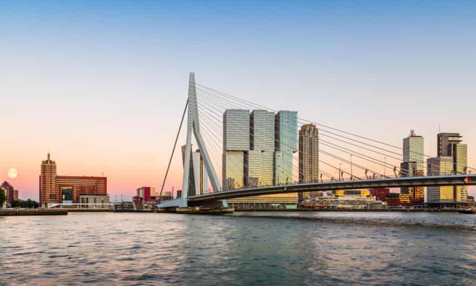 Erasmus Bridge, Rotterdam, Netherlands.