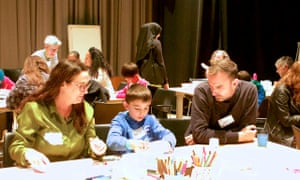 Negative and positive with Judith Walker at the Guardian Education Centre Cartoon and art family day 17 November 2018