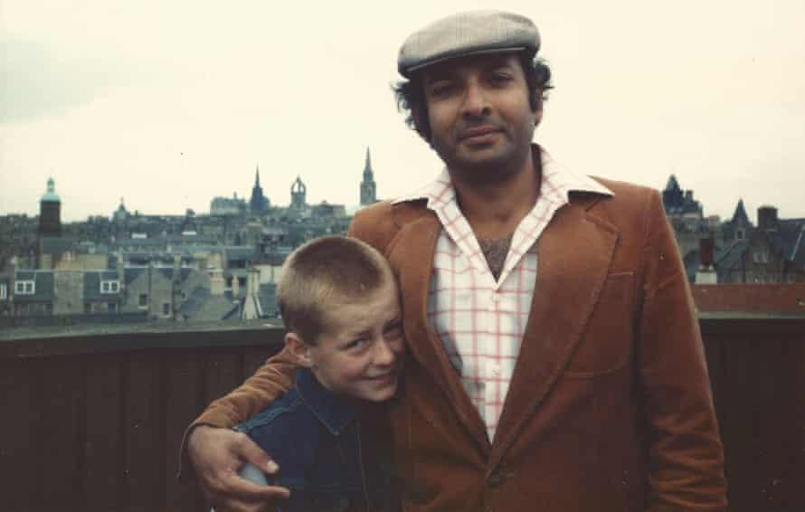 John with Eldridge Buultjens, his adoptive father.