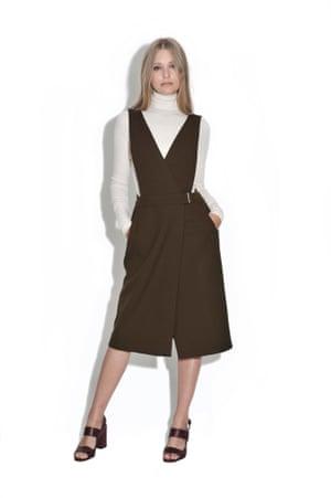 Khaki apron dress