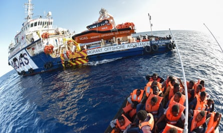The Topaz Responder ship run by Maltese NGO Moas and the Italian Red Cross during 2016 a rescue operation in the Mediterranean