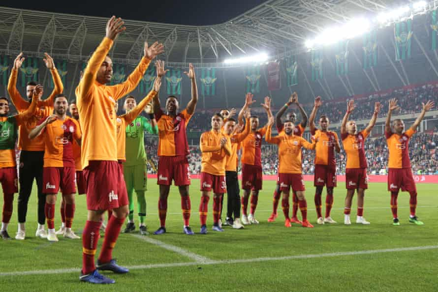Galatasaray after winning the Turkish Super Cup final.
