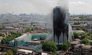 Smoke and flames billow from Grenfell Tower