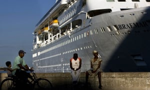 In this April 14, 2008 file photo, the Fred. Olson Cruise Liner Braemar is docked at the port in Havana, Cuba.