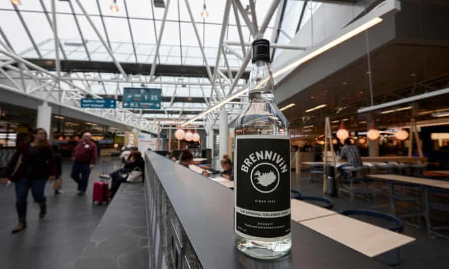 Brennivin on sale in Keflavik airport.