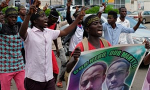 Members of the Islamic Movement of Nigeria protest in Abuja