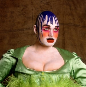 Leigh Bowery, Session I, Look 2, 1988  Greer: 'The end was as sudden as the beginning. Leigh was preparing a series of performances with his group, Minty, at the Freedom Cafe in Wardour Street, London, and we arranged to take group photographs. We provisionally agreed a date for this but I did not receive the follow-up call. I thought that his late performances and the long hours he spent posing for Lucian Freud, meant that he could not, after all, spare the time, so I thought no more about it'