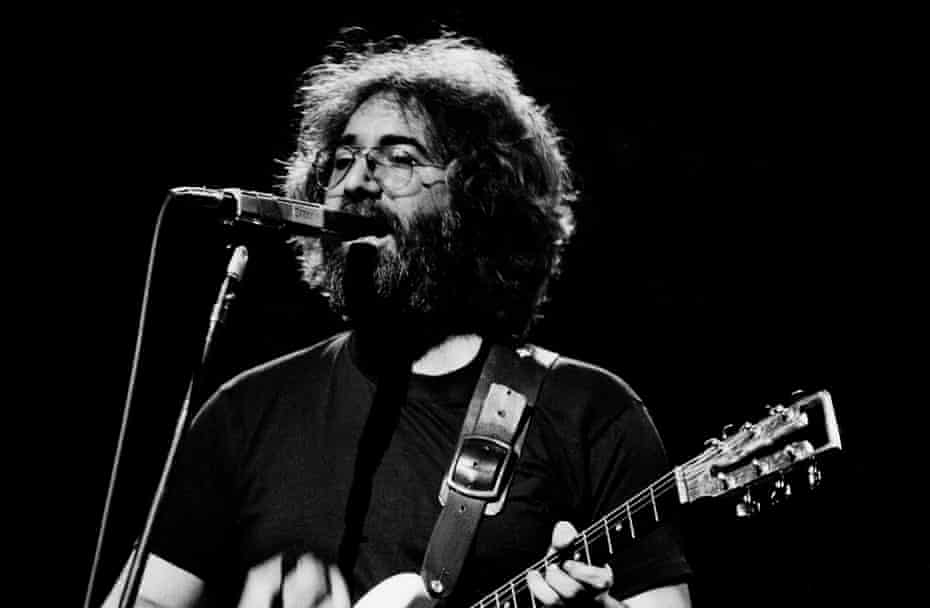 The Grateful Dead's Jerry Garcia performing in 1977.
