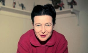'Grownup and unruffled' ... Simone de Beauvoir at home.
