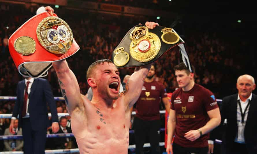 Carl Frampton celebrates a points victory over Scott Quigg that most observers believed was more comprehensive than the judges' scorecards suggested.