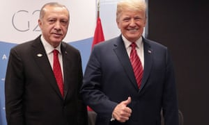 A picture of populism ... Turkey's president Recep Tayyip Erdogan with US president Donald Trump.