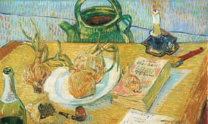 A detail from Van Gogh's Still Life with a Plate of Onions (1889).