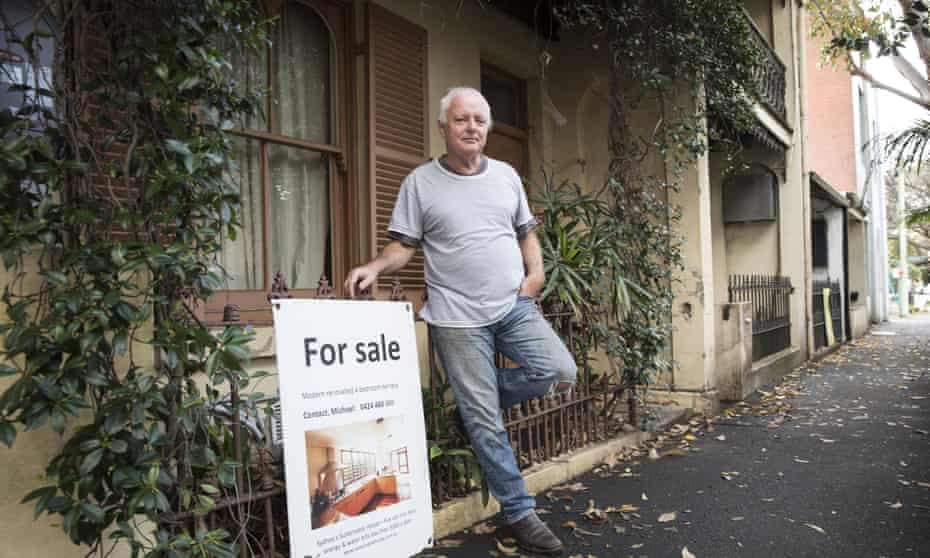 Michael Mobbs outside his sustainable house in the inner-city Sydney suburb of Chippendale.
