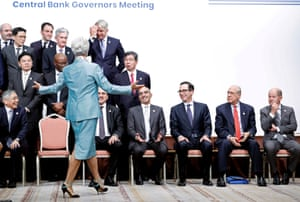 Christine Lagarde during a family photo of the G20 Finance Ministers and Central Bank Governors Meeting in Fukuoka, Japan, last month