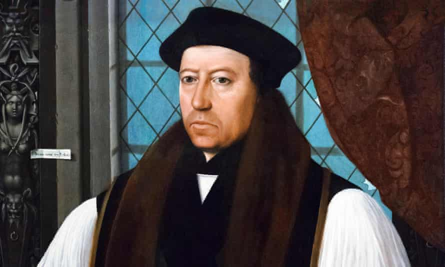 thomas cranmer, archbishop of canterbury, a painting by gerlach flicke 1545.
