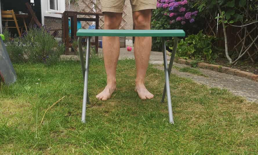 A very small camping table.