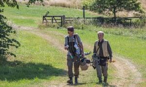 Mackenzie Crook (left) and Toby Jones in a scene from Detectorists.