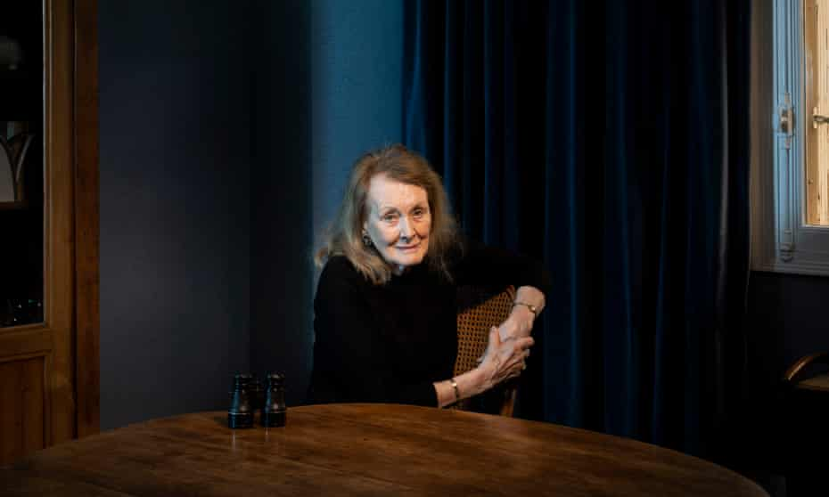 Annie Ernaux photographed at home in Paris last month by Ed Alcock for the Observer New Review.