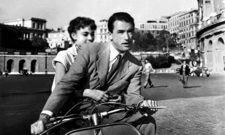 Audrey Hepburn and Gregory Peck in Roman Holiday directed by William Wyler, 1953.