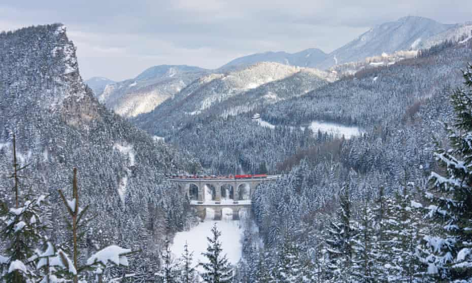 The Semmering railway crosses the Kalte-Rinne viaduct en route from Vienna to south-western Austria.