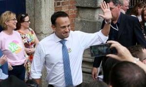 Leo Varadkar arrives for the abortion referendum result at Dublin Castle