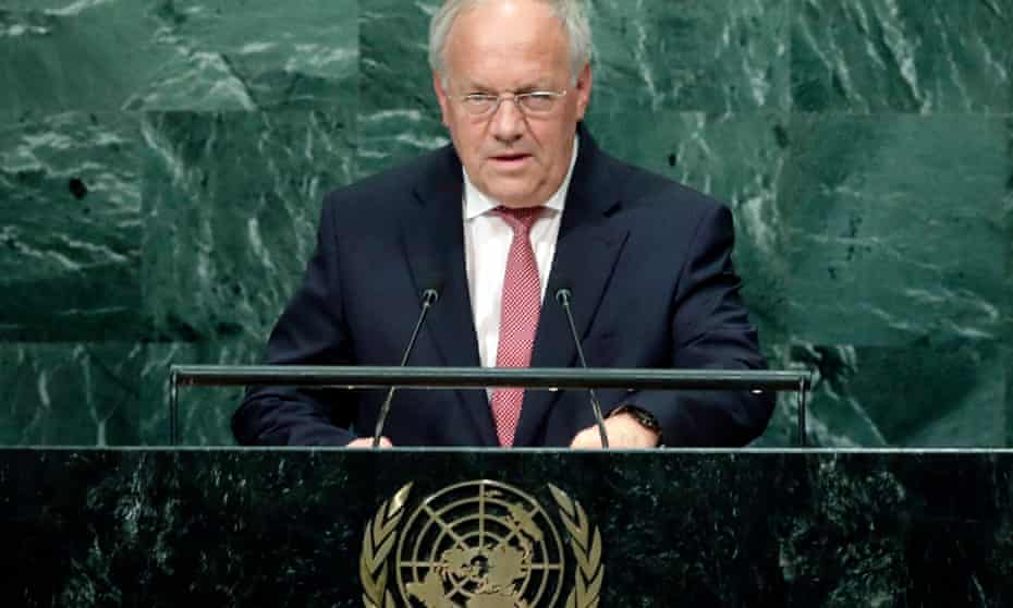 The Swiss president Johann Schneider-Ammann