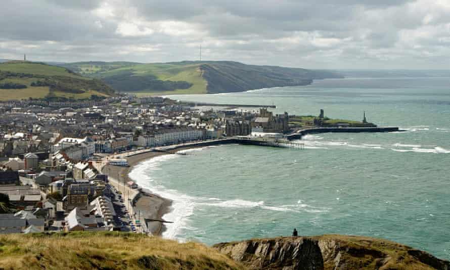 Cardigan Bay in Aberystwyth, Wales.