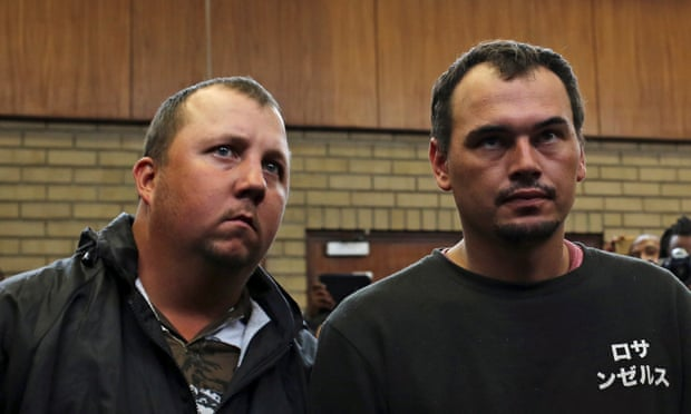 Image result for south africans in court coffin video
