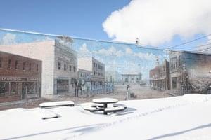A mural in downtown International Falls, Minnesota.