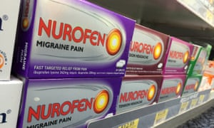 Nurofen pain relievers in a Sydney pharmacy. An Australian court has fined British consumer goods maker Reckitt Benckiser $1.7m for misleading customers about its specific pain range.