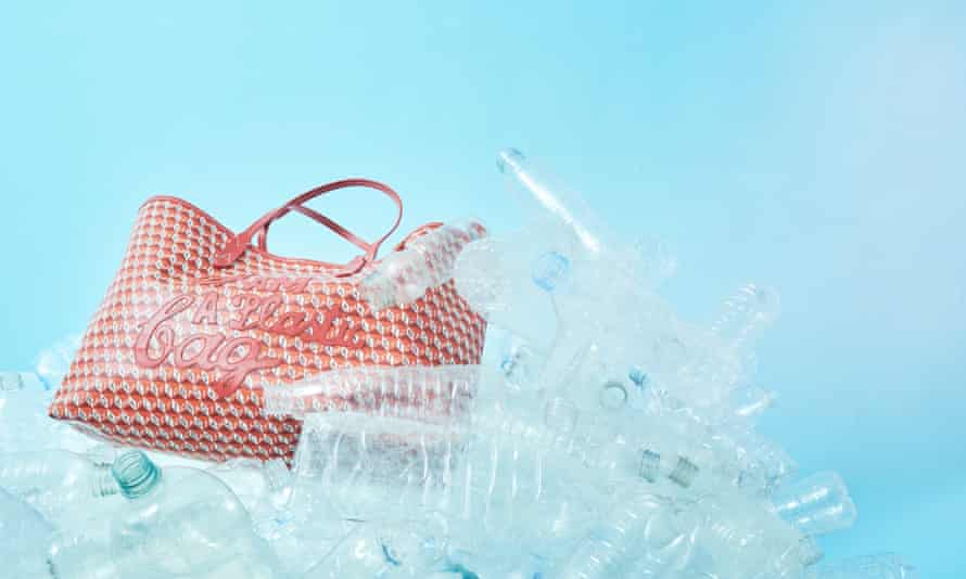 Sustainable shopper: Anya Hindmarch's new bag, made from recycled plastic bottles.