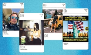 a composite image of instagram posts on mock white smartphone screens