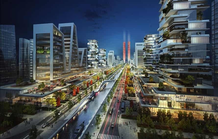 Design concept for Eko Atlantic, Lagos.