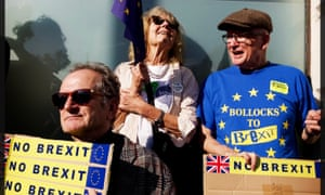 Supporters of a People's Vote march in London against Brexit.