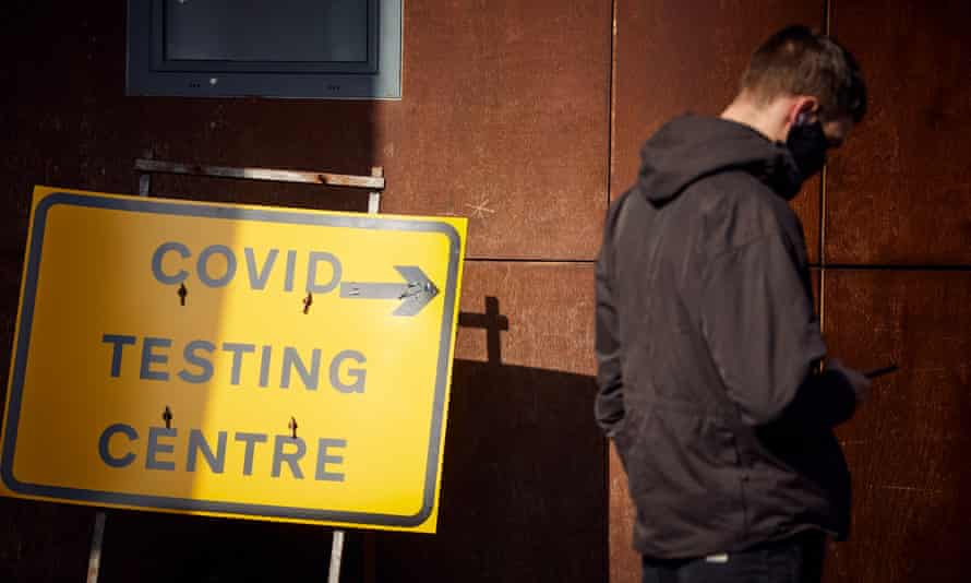 Covid testing centre in Manchester