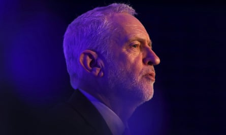 Jeremy Corbyn answers questions at the EEF conference in London.