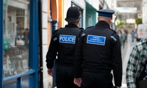 Police and community support officer in Falmouth, Cornwall