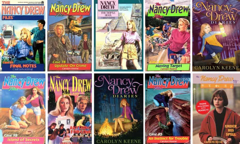 Composite: Nancy Drew book covers