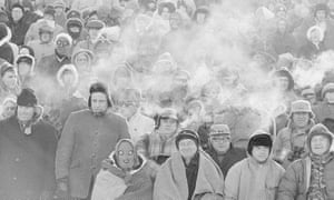 Fans brave freezing temperatures to support the Packers in 1967