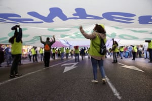 Thousands joined the march in Madrid, Spain