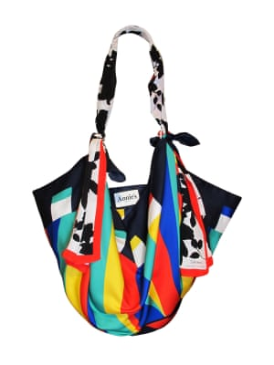 Island hitsExclusive to Annie's Ibiza boutique, these upcycled scarf bags are hand made in London by Annie's sister Krissy Doble using 1970s and 1980s vintage scarves. £89, anniesibiza.com